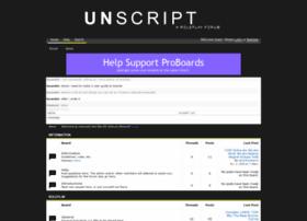 unscript.boards.net