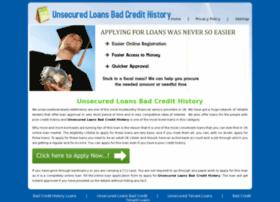 unsecuredloansbadcredithistory.co.uk