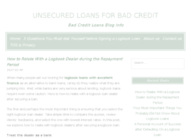 unsecuredloansforbadcreditnofeesnoguarantor.co.uk