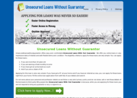 unsecuredloanswithoutguarantor.co.uk