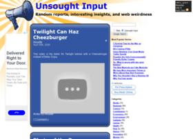 unsoughtinput.com