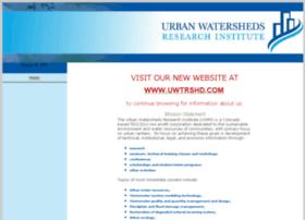 urbanwatersheds.org