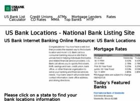 usbanklist.com