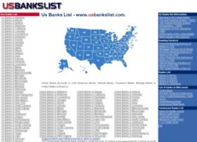 usbankslist.com