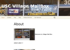 uscvillagemailbox.com