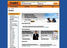 vacations.respond.com