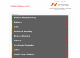 valueandevidence.com