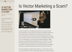 is vector marketing a scam