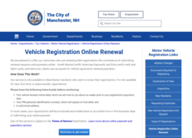 vehicleregistrationonlinerenewal.manchesternh.gov