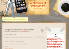 verificationofemployment.net