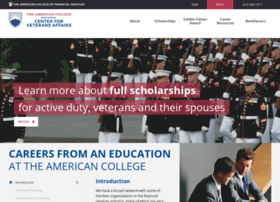 veterans.theamericancollege.edu