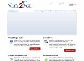 voice2page.com