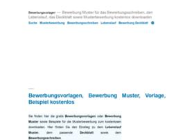 vorlage-muster.bewerberbibel.de
