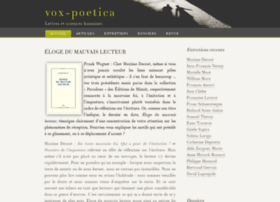 vox-poetica.org