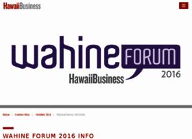wahine.hawaiibusiness.com