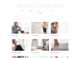 waitingforsaturday.com