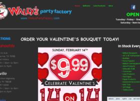 wallyspartyfactory.com