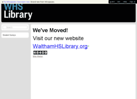 walthamlibrary.wikispaces.com
