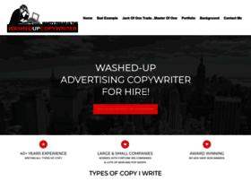 washedupcopywriter.com