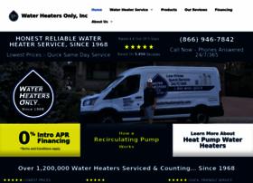 waterheatersonly.com