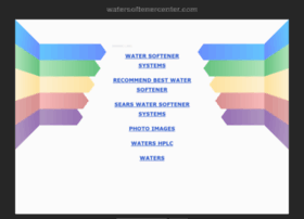 watersoftenercenter.com