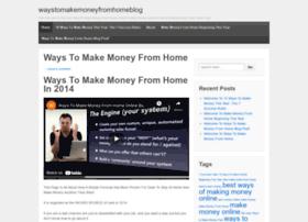 waystomakemoneyfromhomeblog.wordpress.com