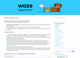 waze.uservoice.com