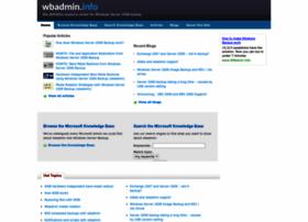 wbadmin.info