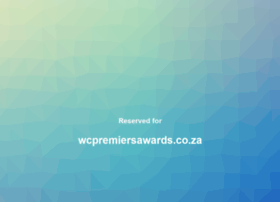 wcpremiersawards.co.za