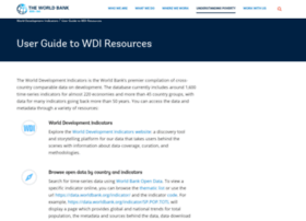 wdi.worldbank.org