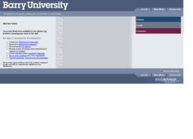 webadvisor.barry.edu