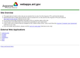 webapps.anl.gov