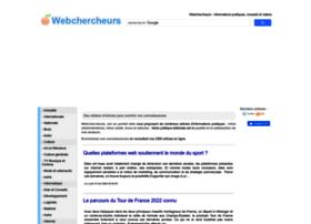 webchercheurs.com
