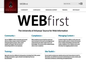 webfirst.uark.edu