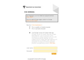 webmail.hva.nl
