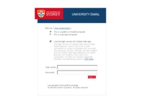 webmail.sydney.edu.au