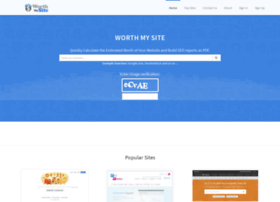 websiteworth.in