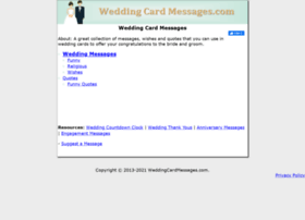 weddingcardmessages.com
