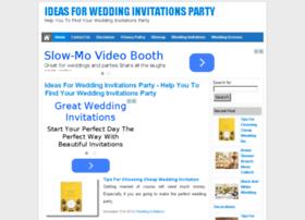 weddinginvitationsparty.com