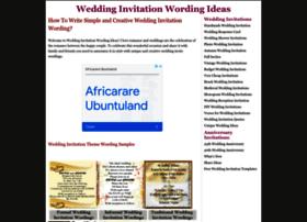 Invitation Wording Samples