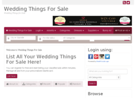 weddingthingsforsale.com