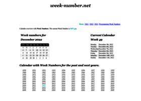 week-number.net
