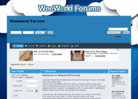 weeworld.createaforum.com