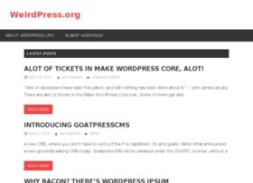 weirdpress.org