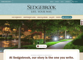 welcometosedgebrook.com