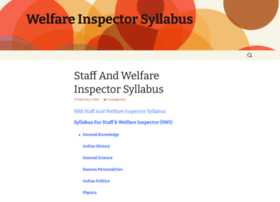 welfareinspectorsyllabus.wordpress.com