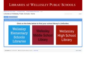 wellesleyhs.libguides.com