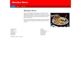 wendys-menu.com