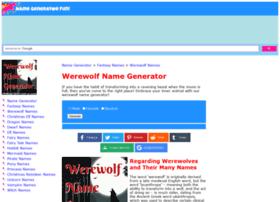 werewolf.namegeneratorfun.com