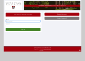 wesleyan.sona-systems.com